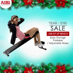 AIBI Fitness: AIBI Sit Up Bench Easy Storage Foldable/ Adjustable Slope