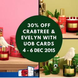 Crabtree & Evelyn: 30% OFF Storewide with UOB Cards