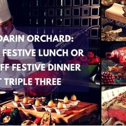 Mandarin Orchard: 1-for-1 Festive Lunch or 25% OFF Festive Dinner at Triple Three