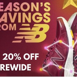 New Balance: Up to 20% OFF Storewide