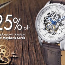 Maybank: 25% OFF Regular-priced Timepieces