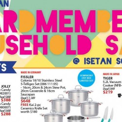 Isetan Scotts: ICardmembers' Household Sale + Additional 10% OFF