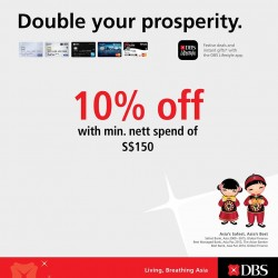 DOT: 10% OFF with min. nett Spend of S$150