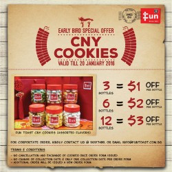 Fun Toast: CNY Cookies Assorted flavors