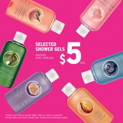 The Body Shop: Selected Shower gel @$5 Each