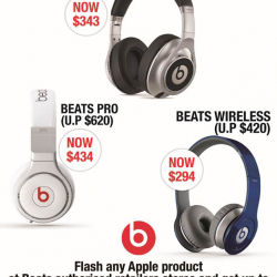 nübox: 30% OFF Selected Beats Headphones when you show Apple Products