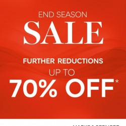 Marks & Spencer: Up to 70% OFF End Season Sale