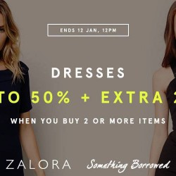 Zalora: Dresses Up to 50% OFF + Extra 20% OFF
