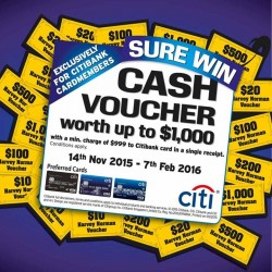 Harvey Norman: SURE WIN Cash voucher Worth up to $1000