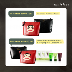 Innisfree: Limited Edition innisfree x Paul Frank Pouch