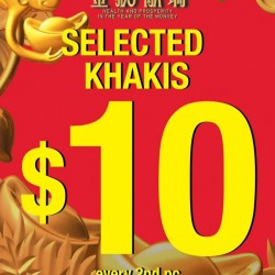 Giordano: Selected Khakis For Only $10 Every 2nd pc