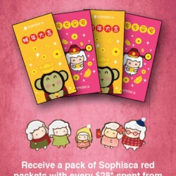 Sophisca candy and gift store: Limited Edition Sophisca Red Packets with every $28 spent