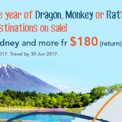 ZUJI: 8 Top Destinations on Sale from $180 (Return)!