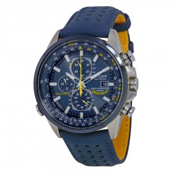 eBay: Citizen Eco Drive Blue Angels World Chronograph Leather Mens Watch AT8020-03L