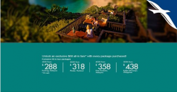 SilkAir: Unlock an Exclusive $68 all-in Fare with Every Package Purchased