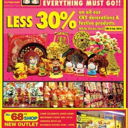 Japan Home: 30% OFF on all Chinese New Year decorations and festive products