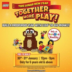 """Toys """"R"""" Us: Free LEGO Lunar New Year Gifts with any LEGO Toys Purchase"""
