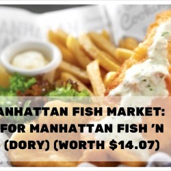 The Manhattan Fish Market: $5.95 for Manhattan Fish 'n Chips (Dory) (worth $14.07)