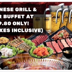 ROCKU Yakiniku: Japanese Grill Buffet with Free Flow of Asahi Beer or Soft Drinks at $39.80!