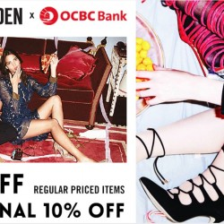 Steve Madden: 20% off regular priced items + additional 10% off sale items with OCBC Cards