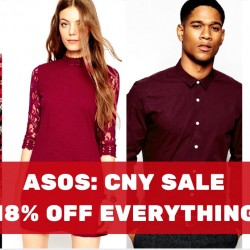 ASOS: CNY Sale 18% OFF Everything