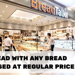 BreadTalk: Enjoy a $1 Bread with Purchase of any Bread