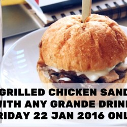 Starbucks: Free Grilled Chicken Sandwich with any Grande Drink