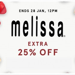 Zalora: Extra 25% OFF Melissa Shoes