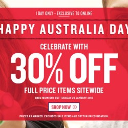 Cotton On: 30% OFF Storewide Online + Free Shipping Above S$50