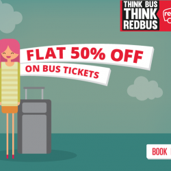 RedBus: Hurry! Last 2 days left to avail Flat 50% off on bus tickets and celebrate the Chinese New Year