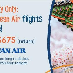 Zuji: One Day Only All Korean Air Flights on Sale from $675!