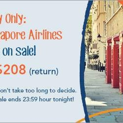 Zuji: All Singapore Airlines Flights on Sale for One Day Only!