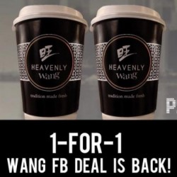 Wang Cafe: 1-for-1 Kopi or Teh for FB Fans