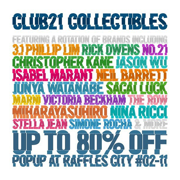 Club 21: Collectibles Popup Store at Raffles City Up to 80% OFF