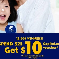 Nivea: $10 CapitaLand Mall Voucher with $25 Spend
