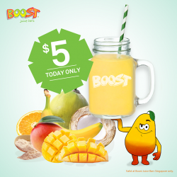 Boost Juice Bars: Mangoodness Drink @$5 Today