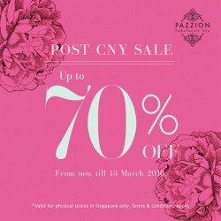 Pazzion: Post CNY Sale Up to 70% OFF