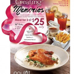 Poulet: Meal for 2 @$25