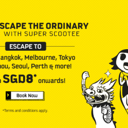 FlyScoot: Take Off Tuesday from S$8 onwards