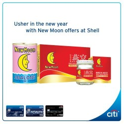 Citibank: $5 OFF Per New Moon Set at Shell