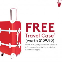 Triumph: Free Vntage Travel Luggage with $538 nett spend