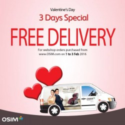 OSIM: Free Delivery when you order any OSIM Products