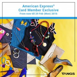 Tangs: Free Calvin Klein watch worth S$350 with a cumulative spend of S$888 for Amex Cardholders