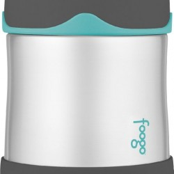 Amazon: THERMOS FOOGO Vacuum Insulated Stainless Steel 10-Ounce Food Jar, Charcoal/Teal