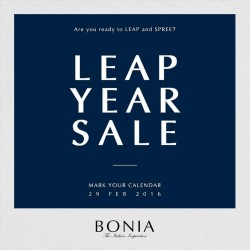 Bonia: Leap Year Sale on 29 Feb 2016