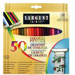 Amazon: Sargent Art 22-7251 Colored Pencils, Pack of 50, Assorted Colors