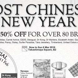 Takashimaya: Post CNY Sale Up to 50% OFF