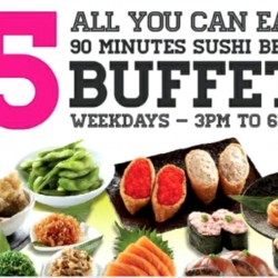 Sakae Sushi: $15 Weekday Sushi Belt Buffet Locations Revised
