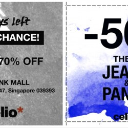 Celio: Get Up to 70% OFF & 2nd pair of Jeans/Pants at 50% OFF