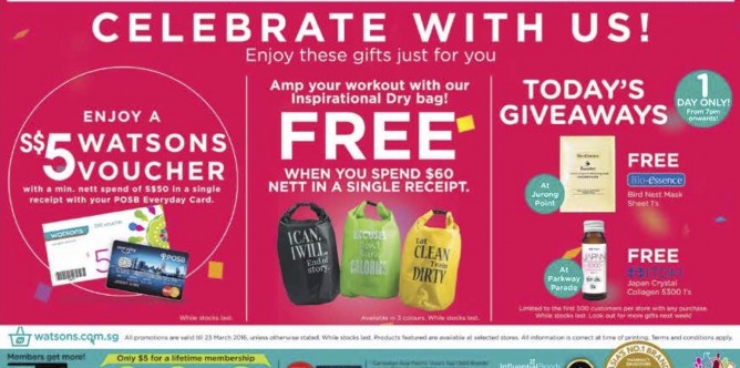 Watsons: Anniversary Sale Up to 40% OFF + $5 Voucher + Free